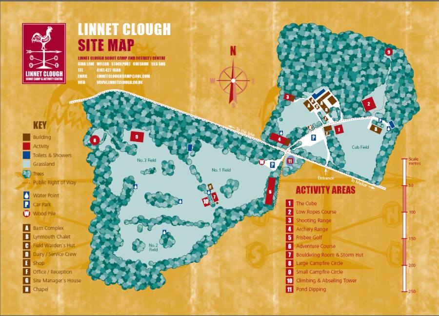 Linnet Clough Site Map